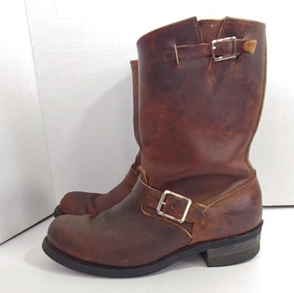 Frye Mens Engineer 2r Boots In Gaucho